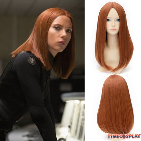 Marvel Comics Captain America The Winter Soldier Black Widow Cosplay Wigs