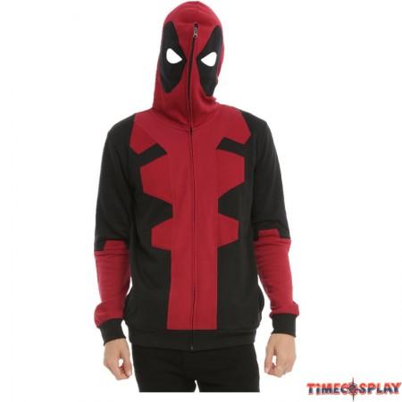 Marvel Deadpool Cosplay Full Zip Hoodie