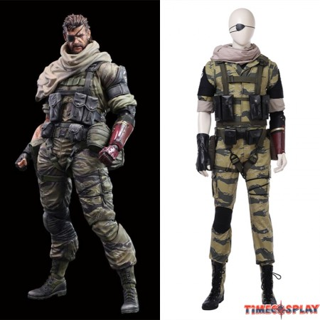 Metal Gear Solid V Snake Cosplay Costume Deluxe Version
