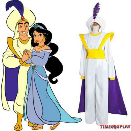 Movie Aladdin Prince Cosplay Halloween Party Costume