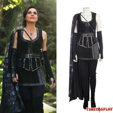 Once Upon A Time Evil Queen Regina Mills Cosplay Costume Deluxe Outfit