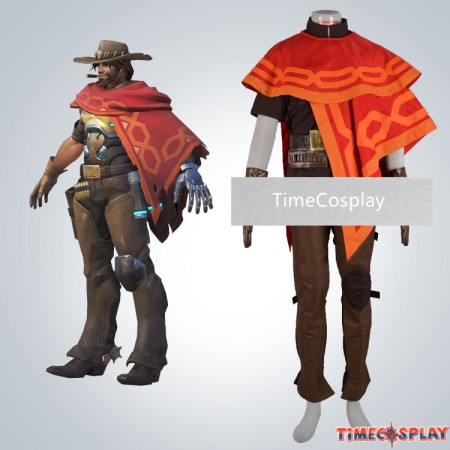 Overwatch Ow Jesse·Mccree Cosplay Halloween Costumes