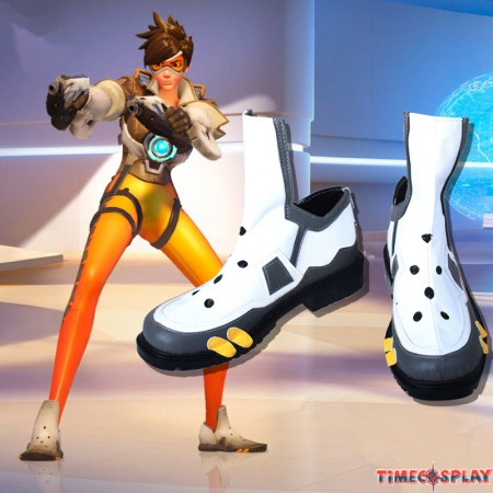 Overwatch OW Tracer Cosplay Shoes