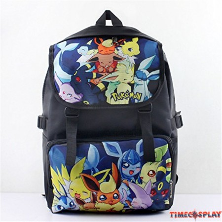Pokemon Go Pocket Monster Eevee Family Backpack School Bag