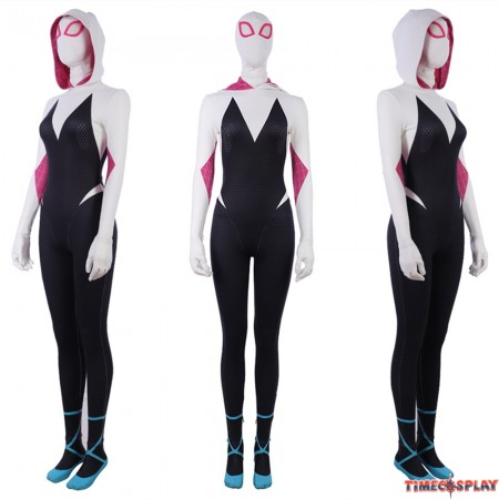 Spider-Man: Into the Spider-Verse Spider Gwen Cosplay Costume Jumpsuit