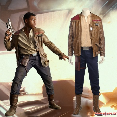 Star Wars 8 The Last Jedi Finn Cosplay Costume Deluxe Outfit