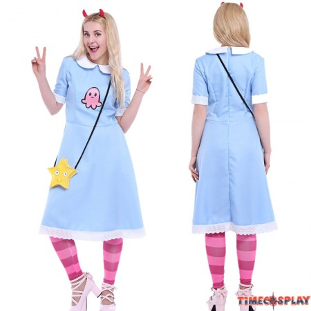 Star vs the Forces of Evil Cosplay Princess Star Butterfly Blue Dress Costume