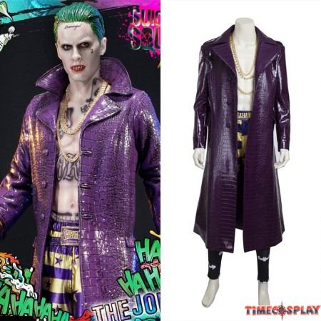 Suicide Squad Joker Costume Cosplay Outfit - Deluxe Version