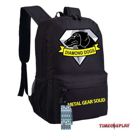 Timecosplay Metal Gear Solid V Diamond Dogs Logo Bag Schoolbag Backpack