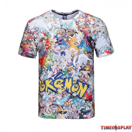 Timecosplay Pokemon GO 2016 3D Print Harajuku Men Tee Shirt