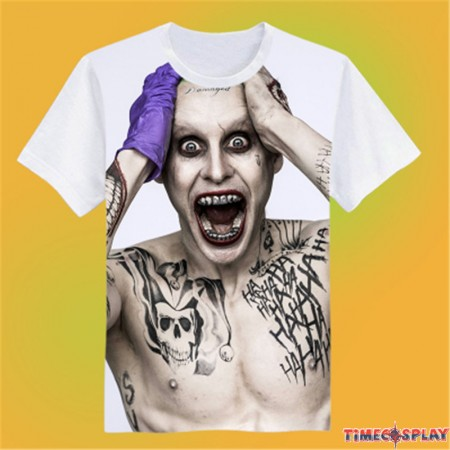 Timecosplay DC Suicide Squad Joker 3D Print Harajuku Tee Shirts