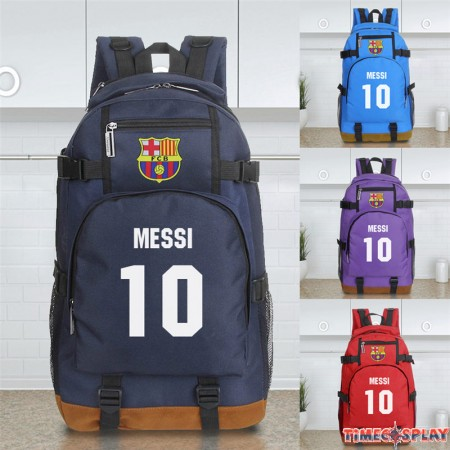Timecosplay FC Barcelona Logo Messi 10 School bag Backpack