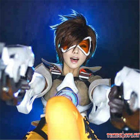 Overwatch OW Tracer Cosplay Wigs