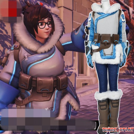 Overwatch Zhou Meiling MEI Cosplay Costumes Full Set - Deluxe Costume