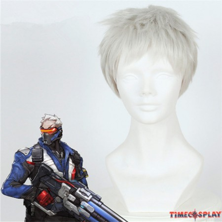 OW Overwatch SOLDIER 76 Cosplay Wigs