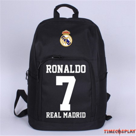 Timecosplay Real Madrid Ronaldo Celebrate 7 Schoolbag Backpack