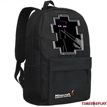 Timecosplay Minecraft SEnderman Logo Cosplay Bag School bag Backpack