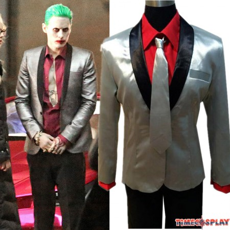 Suicide Squad Jared Leto Joker Suit Cosplay Halloween Outfit Costume