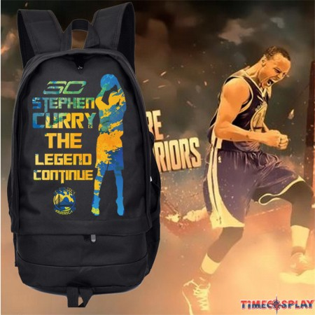 Timecosplay Warriors Stephen Curry 30 Sports Backpack Bag Schoolbag