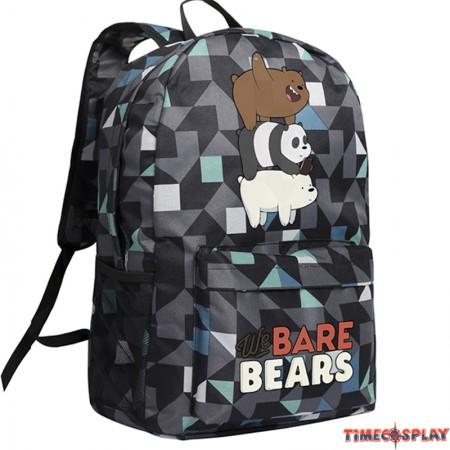 Timecosplay We Bare Bears Lattice Shoulders Bag Schoolbag Backpack