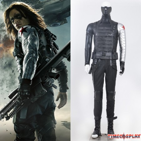 Winter Soldier Cosplay Costume Bucky Barnes Costume - Deluxe Version