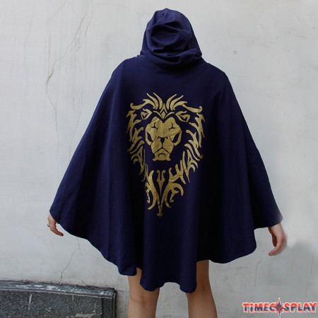 WOW World Of Warcraft Cosplay Stormwind Alliance Tribal Cloak Dress Pullover Hoodie