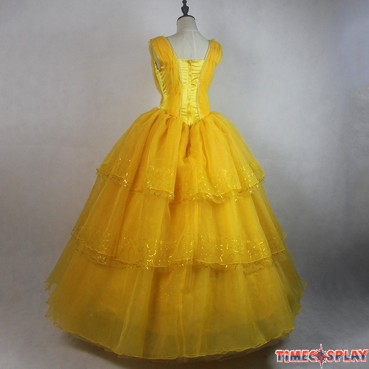 2017 Movie Beauty And The Beast Princess Belle Cosplay Dress