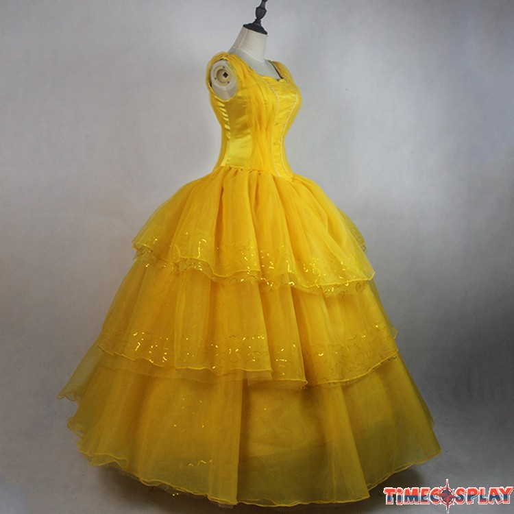 2017 Beauty And The Beast Princess Belle Dress Emma Watson