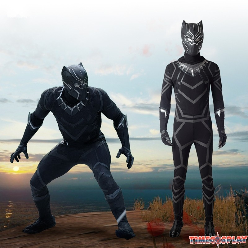 2018 Black Panther Cosplay Costume Deluxe Outfit