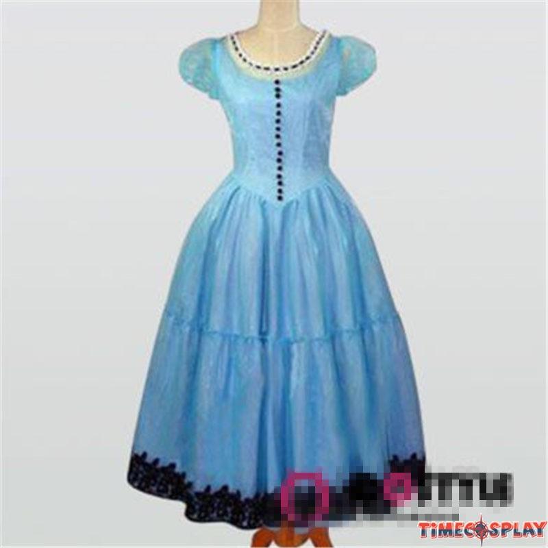 Alice In Wonderland Cosplay Tim Burton Blue Dress