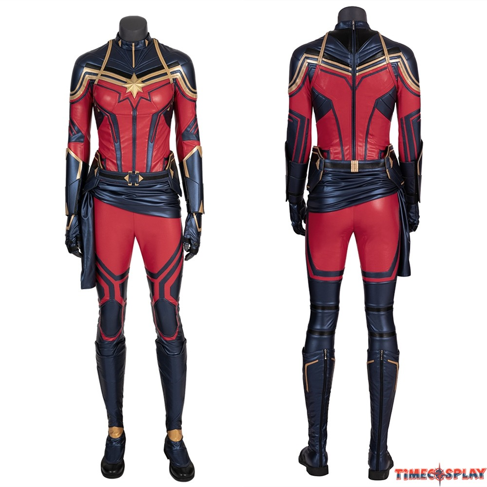 Avengers Endgame Captain Marvel Cosplay Costume And, for captain marvel, he led a team of equally talented artists including jackson sze, ian joyner, anthony francisco, adam ross, tully summers because captain marvel is part of an elite military force, the kree, the design team wanted to create a military space suit that looked like it could endure. avengers endgame captain marvel cosplay costume