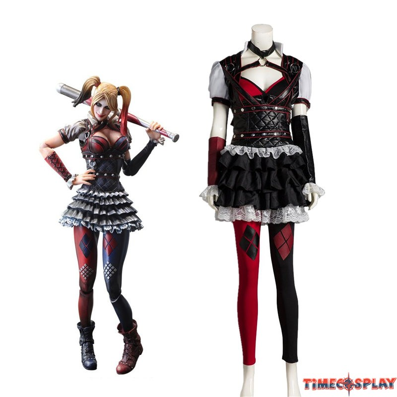 Arkham Asylum Harley Quinn Cosplay Outfit Costume