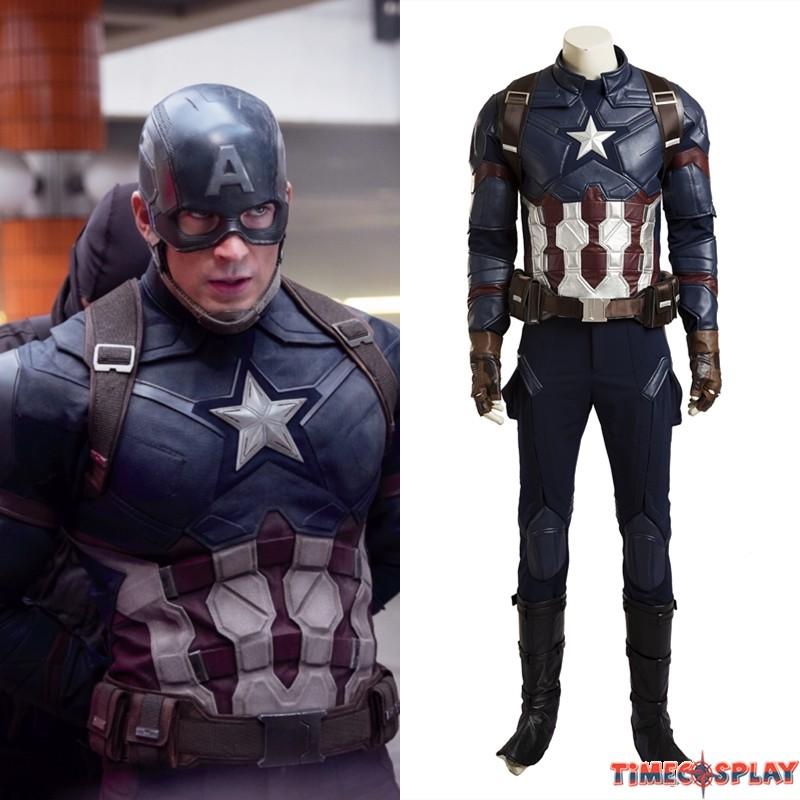 Civil War Captain America Cosplay Costume - Deluxe Version