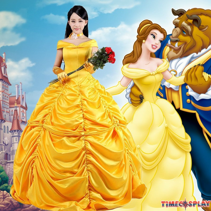 disney beauty and the beast belle princess evening gown