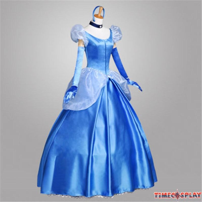 Disney Princess Cinderella Cosplay Gorgeous Dress Costume
