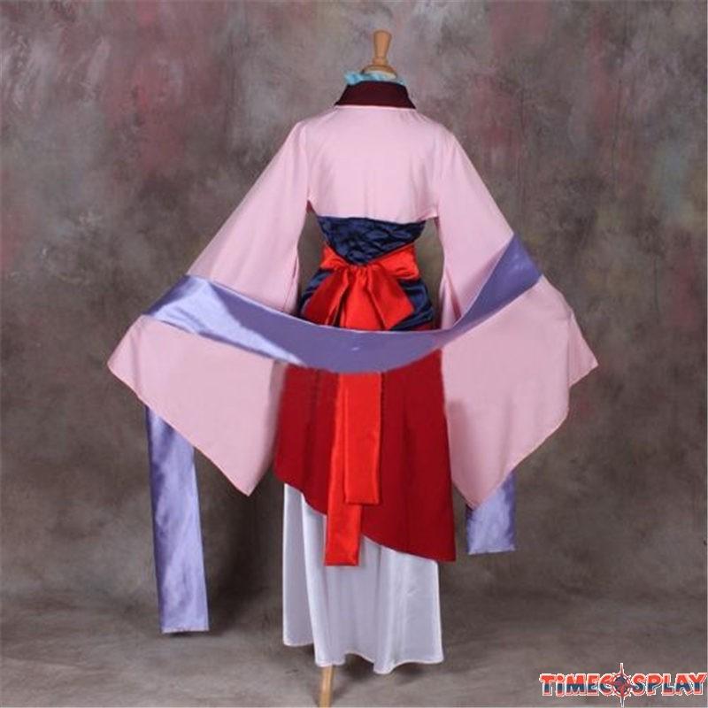 Disney Princess Hua Mulan Cosplay Costume Party Dress