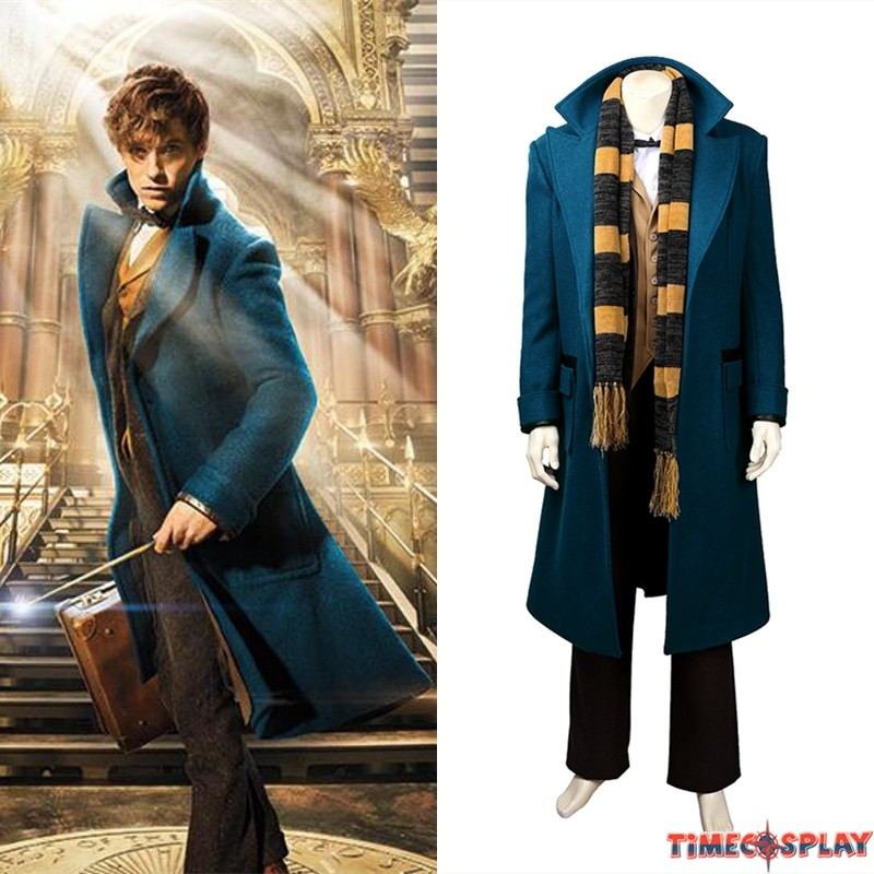 Fantastic Beasts and Where to Find Them Cosplay Costume Newt Scamander Suit