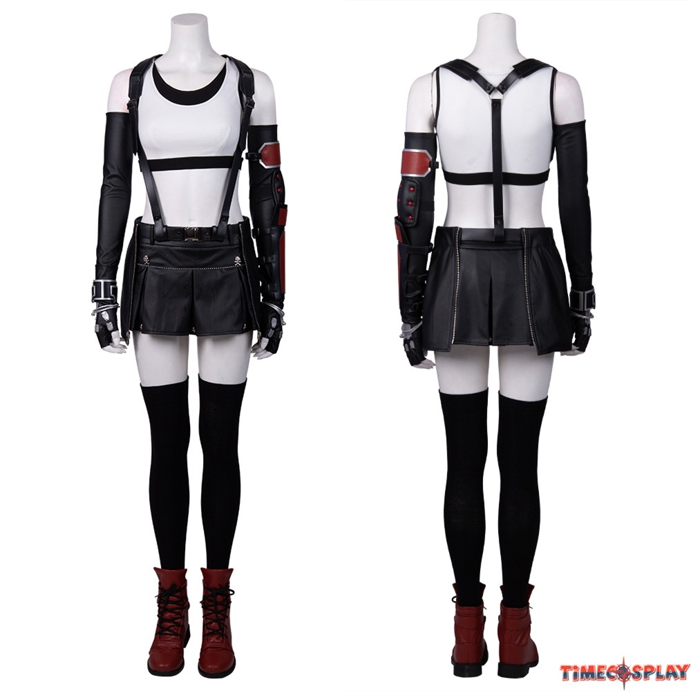 Final Fantasy VII Remake Tifa Lockhart Cosplay Costume Outfit