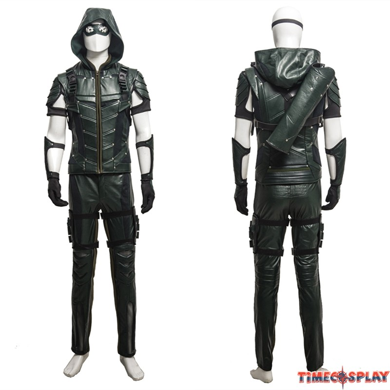 Green Arrow Season 4 Oliver Queen Cosplay Costume 8d4aec6e4