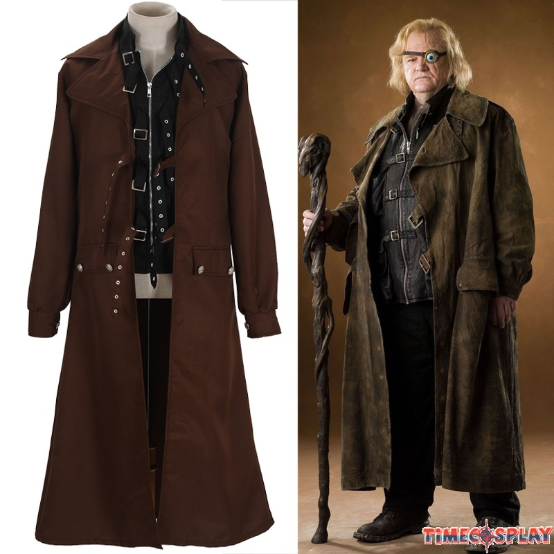 Harry Potter Cosplay Alastor Moody Mad-Eye Trench Coat Costume  sc 1 st  TimeCosplay & Harry Potter Alastor Moody Mad-Eye Cosplay Trench Coat Costume