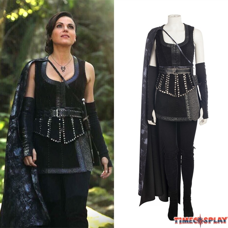 sc 1 st  TimeCosplay & Once Upon A Time Evil Queen Regina Mills Cosplay Costume Deluxe Outfit