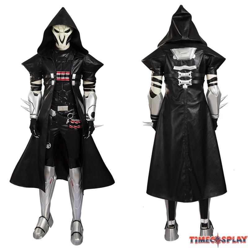 overwatch reaper cosplay costumes deluxe version