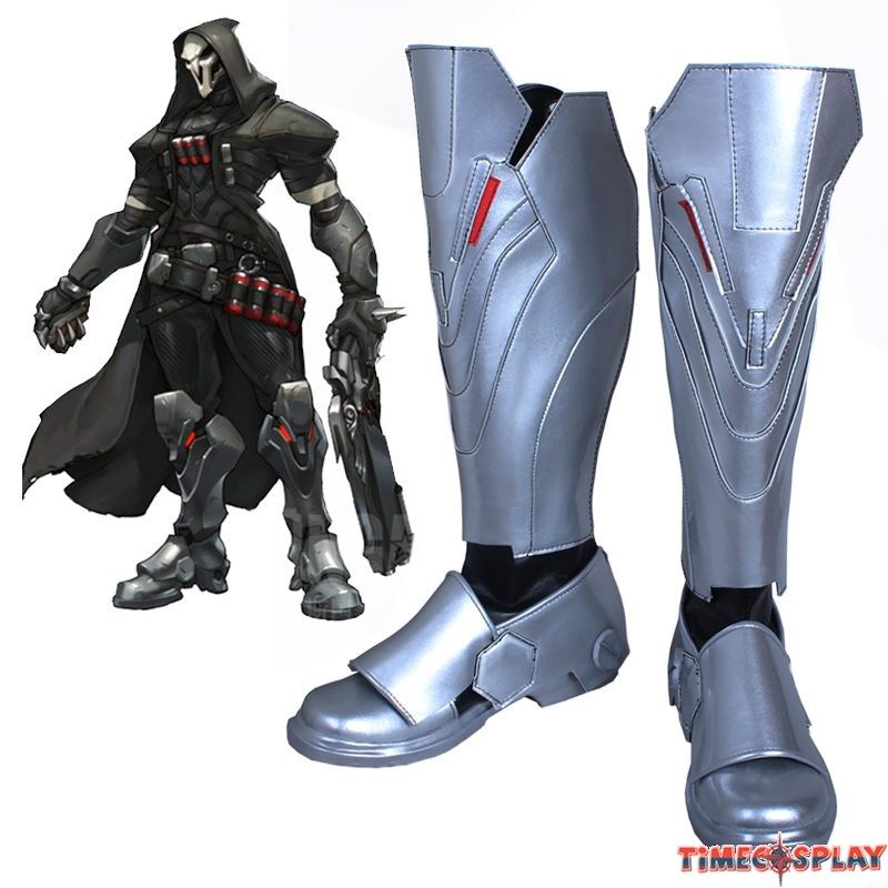 sc 1 st  TimeCosplay & Overwatch OW Reaper Shoes Cosplay Halloween Boots