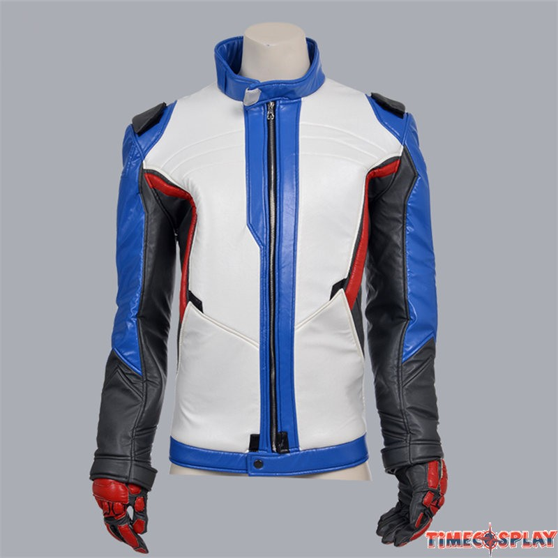 fb6db3794 Overwatch Soldier 76 Coat Jacket Cosplay Costumes
