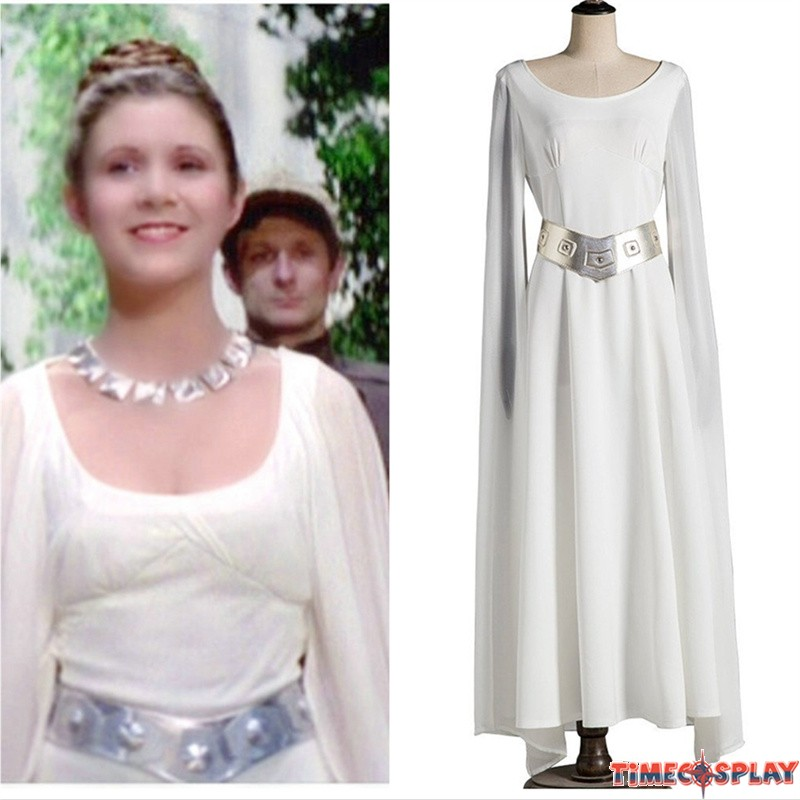 Star Wars A New Hope Princess Leia Cloak Dress Cosplay Costumes