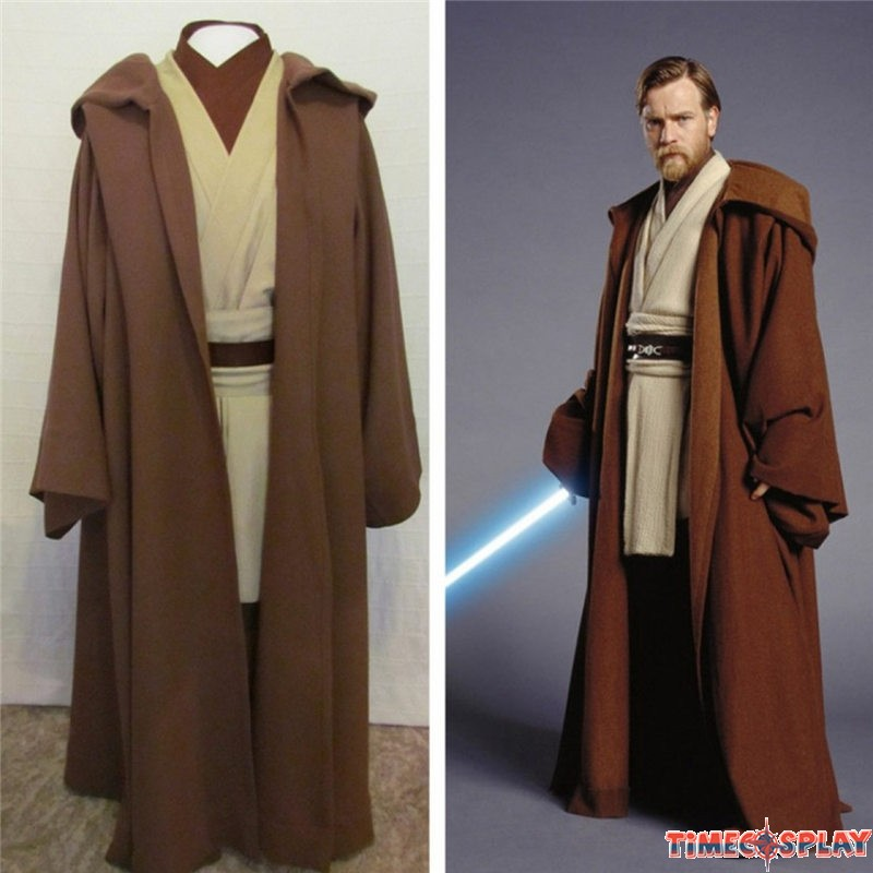 star wars obi wan jedi master original costumes cosplay outfit. Black Bedroom Furniture Sets. Home Design Ideas