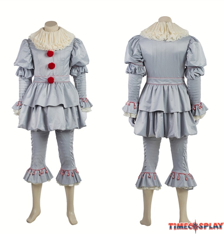 sc 1 st  TimeCosplay & Stephen Kingu0027s It Pennywise Clown Cosplay Costume Deluxe Outfit