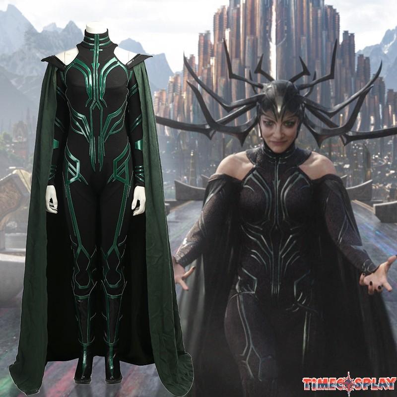 Thor Ragnarok Hela Costume Deluxe Jumpsuit Cosplay