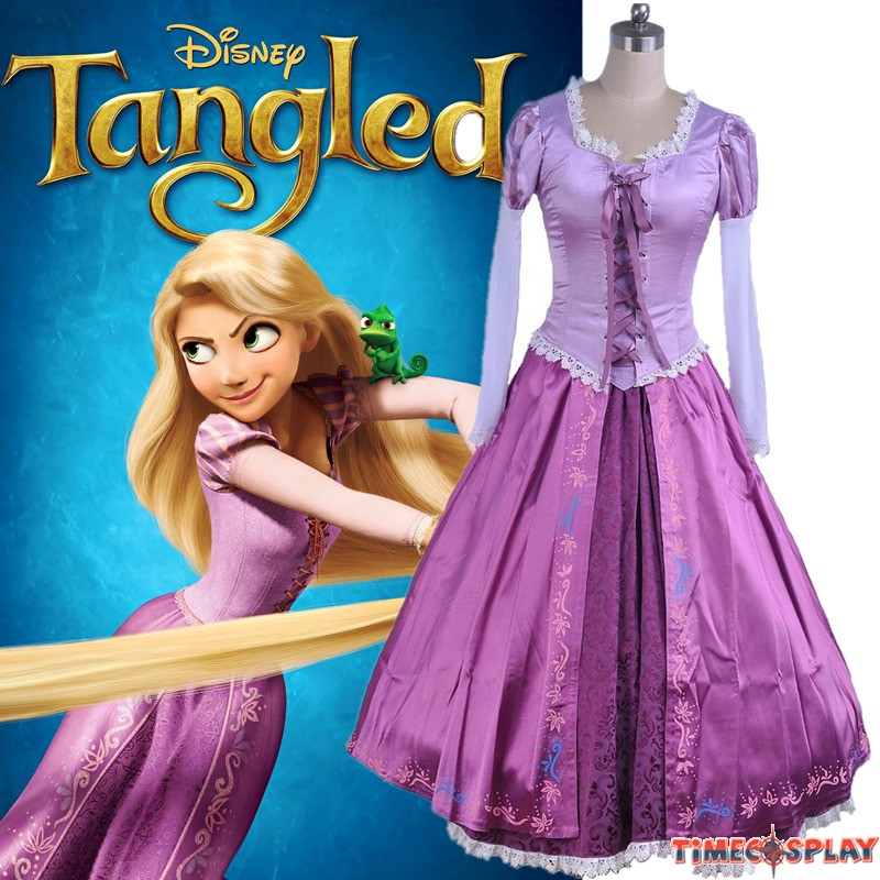 Timecosplay Disney Tangled Princess Rapunzel Adult Dress Cosplay Costume - Deluxe  sc 1 st  TimeCosplay & Timecosplay Disney Tangled Princess Rapunzel Adult Dress Cosplay ...