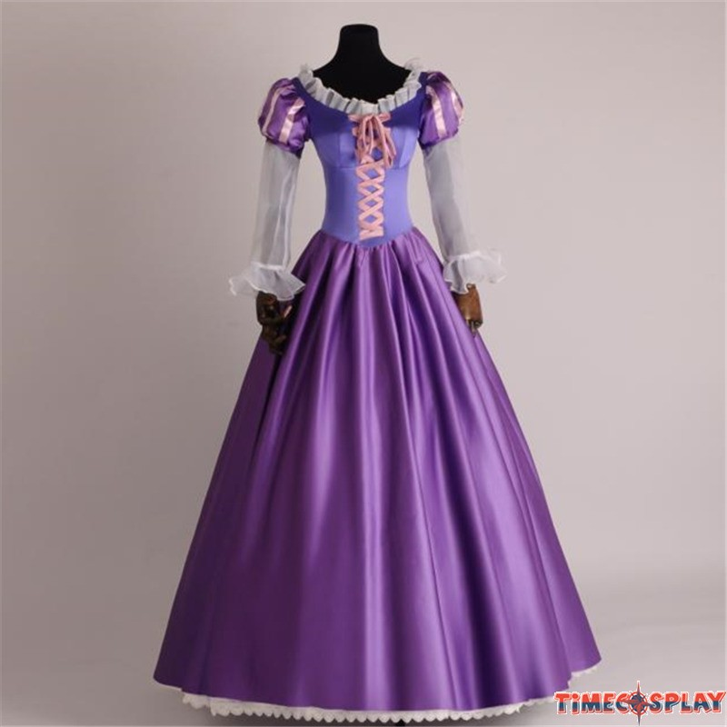 14f37fedc Disney Tangled Princess Rapunzel Adult Cosplay Costume Dress - Deluxe  Original Version